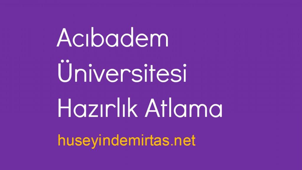 Acıbadem Üniversitesi Hazırlık Atlama
