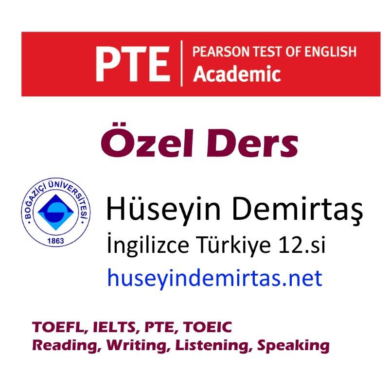 pte akademik özel ders istanbul