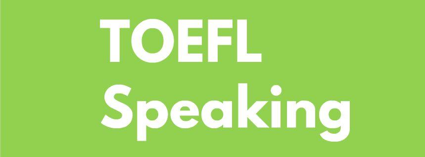 toefl speaking dersi