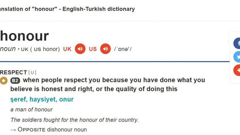İngilizce örnek içeren sözlük