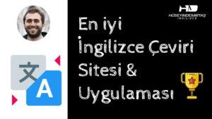 en iyi İngilizce çeviri sitesi & uygulaması